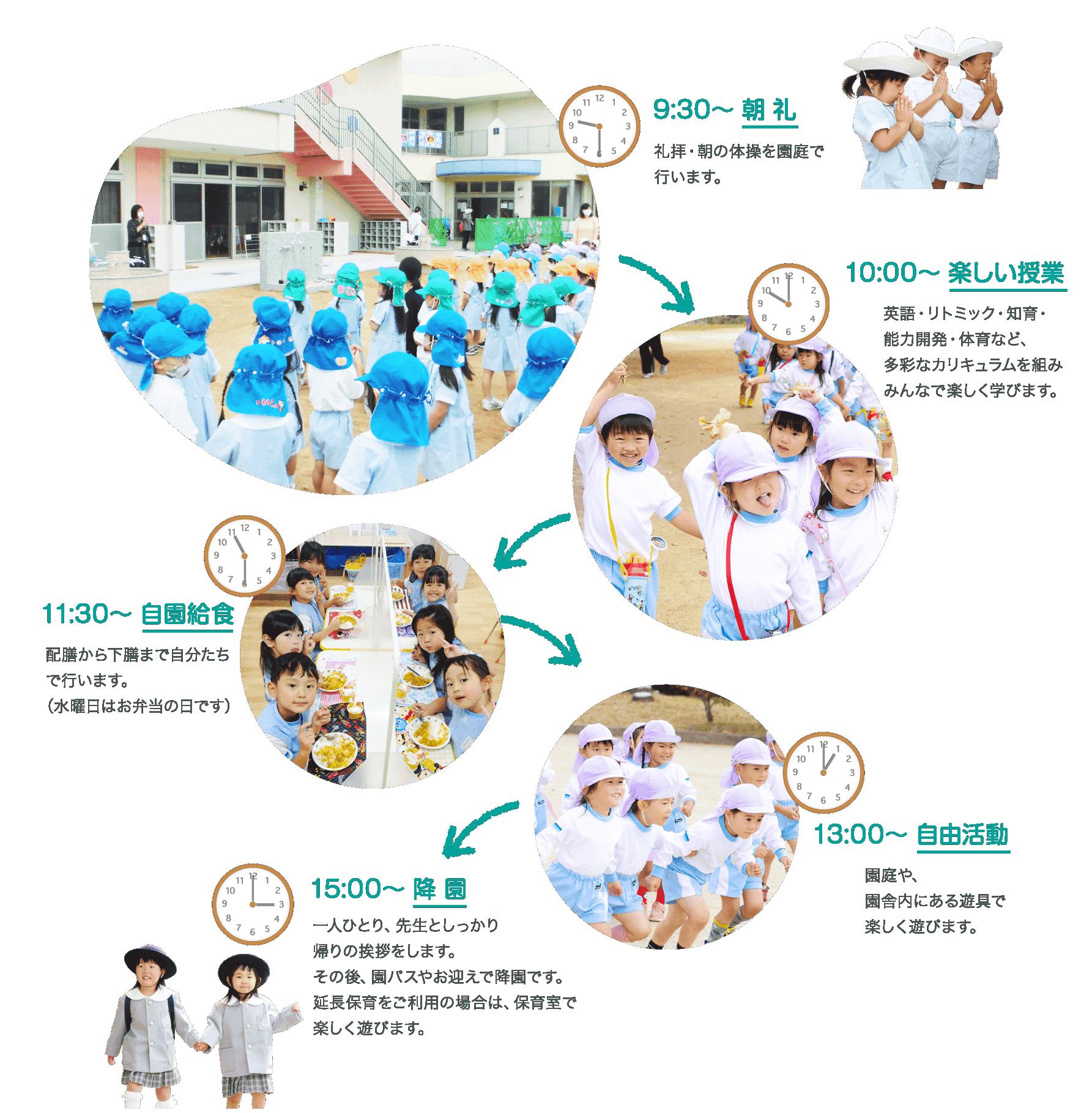 幼稚園の1日の流れ